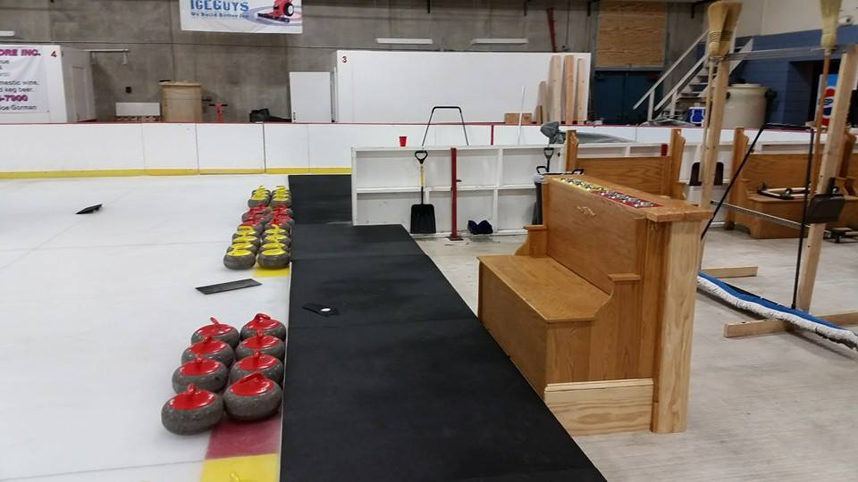 Every home should have and bench-and-bar like the Frogtown Curling Club